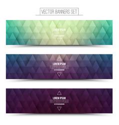 Retro web banners set vector