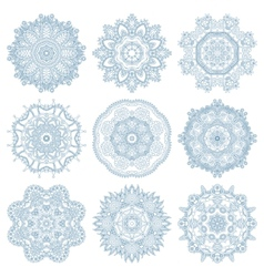set of circle winter ornament round geometric vector image vector image