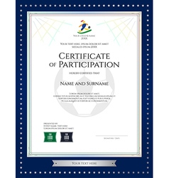 Sport Theme Certificate Of Participation Template Vector Image  Printable Certificate Of Participation