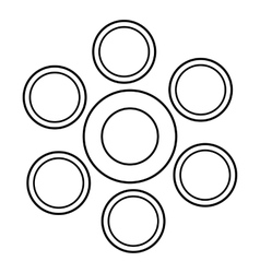 Statistics data icon outline style vector image