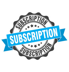 Subscription stamp sign seal vector