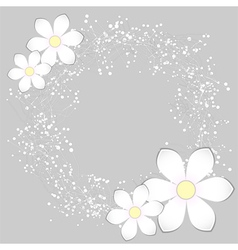 White Paper Flower Card Design vector image vector image