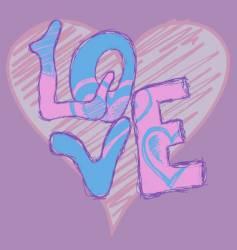 graffiti love vector image