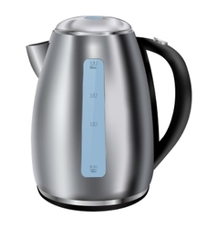 Electric kettle stainless steel vector