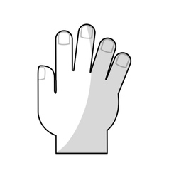 Isolated human hand design vector