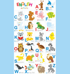 english alphabet vector image