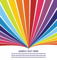 Rainbow template vector