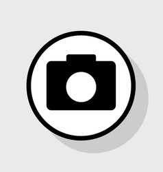 Digital camera sign  flat black icon in vector