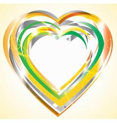 Bright heart vector image