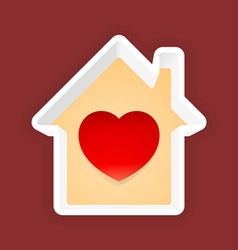 Love Home vector image
