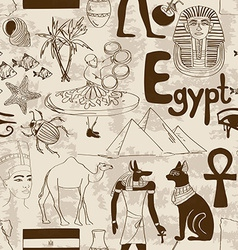 Sketch egypt seamless pattern vector