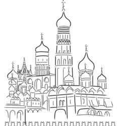 Cathedral of saint basil vector