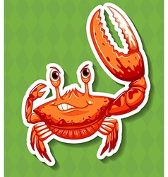 Wild crab with big claw vector
