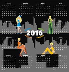 Calendar girls vector