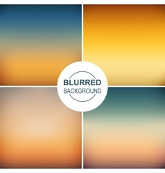 Set of blurred backgrounds vector