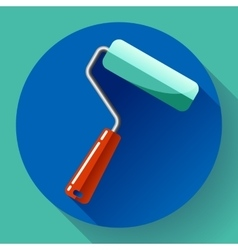 Paint roller icon home repair apartments symbol vector