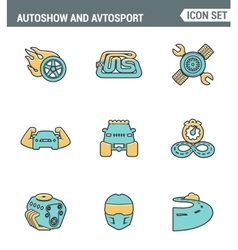 Icons line set premium quality of autoshow and vector