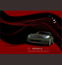 Abstract wave background with car image vector
