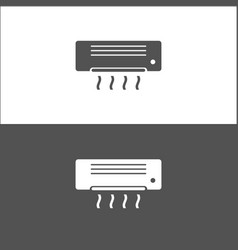 air conditioning icon on black and white vector image vector image