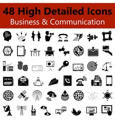 Business and Communication Smooth Icons vector image vector image