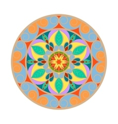 Color Flower mandala over white vector image vector image