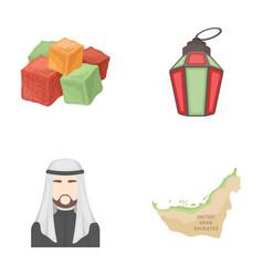 eastern sweets ramadan lamp arab sheikh vector image vector image