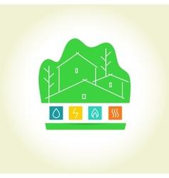 Eco-friendly house logo vector
