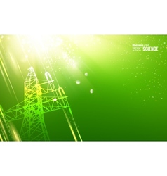 Electric tower vector image