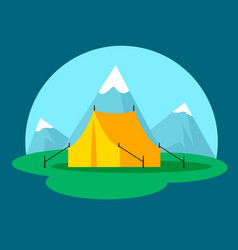 Flat camping and outdoor recreation concept vector