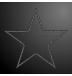 Frame silver sequins star glitter sparkle vector