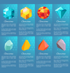 Gemstone collection of posters vector