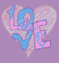 graffiti love vector image vector image