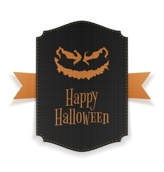 Halloween realistic party poster template vector