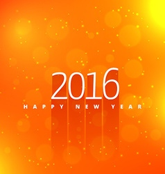 happy new year in orange background vector image vector image