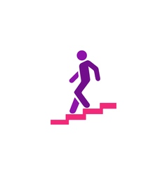 Man stairs Icon vector image