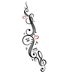 Music notes clef vector image vector image