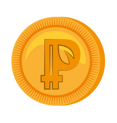 peercoin money golden icon vector image vector image