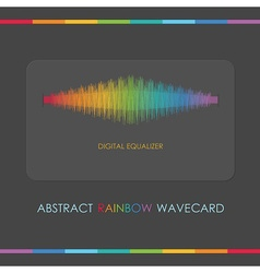 Rainbow wave design elements vector image