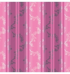 seamless pattern with twig magnolia vector image vector image