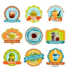 Tea Label Set vector image vector image