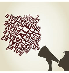 Voice of sales vector