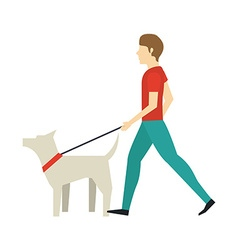 walking the dog design vector image vector image