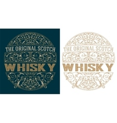 Whisky retro label vector