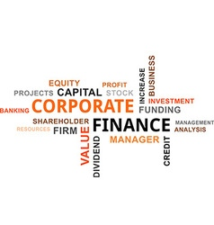 word cloud corporate finance vector image