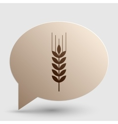 Wheat sign  brown gradient icon on vector