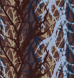Kelp seaweed blue and brown abstract rough vector