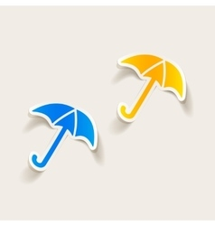 Realistic design element umbrella vector