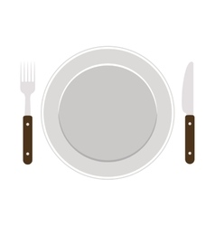 Isolated cutlery and plate design vector