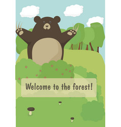 Welcome to the forest vector