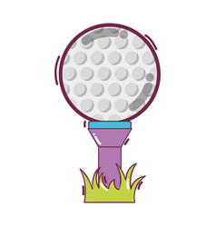 golf ball to play game vector image